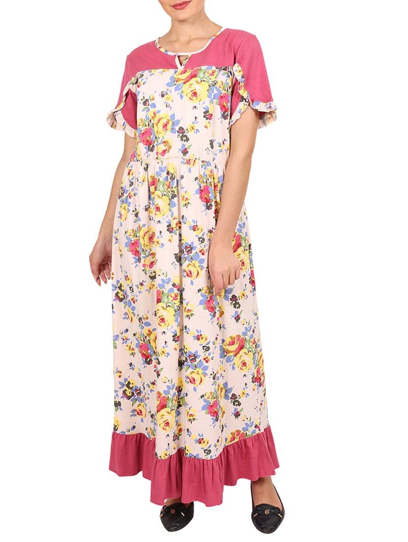 Buy Floral Maternity Nightwear Gown by 9teenagain - Online shopping ...