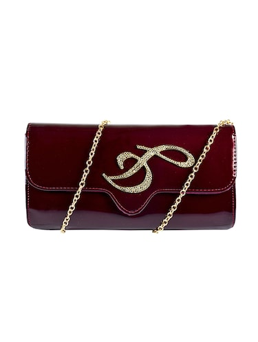wine leatherette (pu) regular clutch - 15384488 - Standard Image - 1