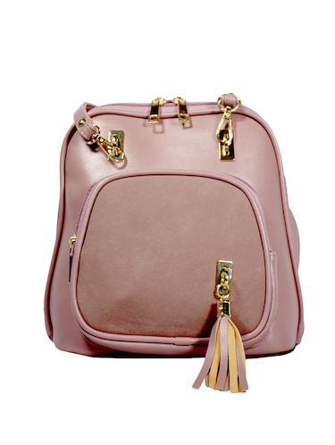 pink leatherette (pu) regular sling bag - 15384510 - Standard Image - 1