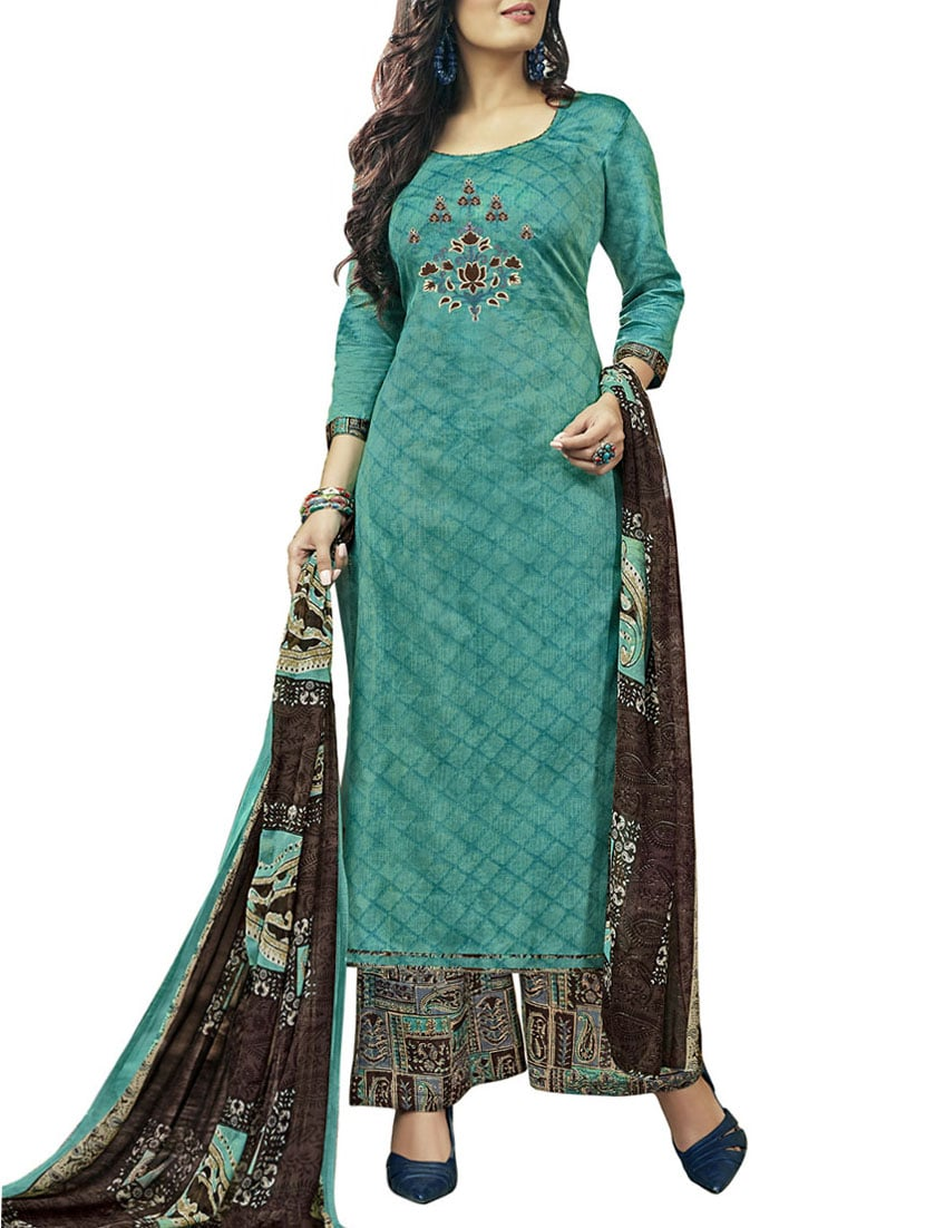 Buy Embroidered Unstitched Palazzo Suit by Swaron - Online shopping ...