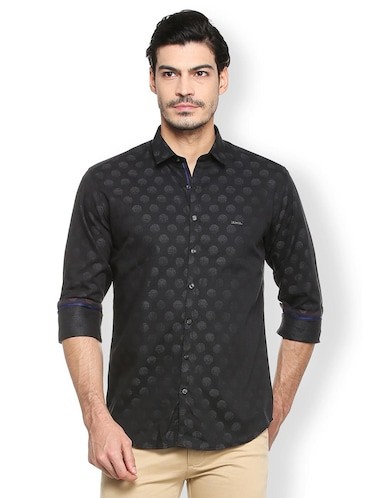 black cotton casual shirt - 15410571 - Standard Image - 1