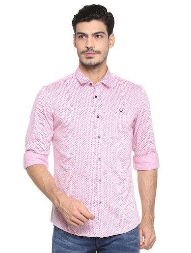 pink cotton casual shirt - 15410585 - Standard Image - 1