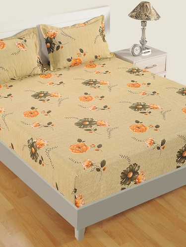 180 TC Floral Print Cotton Single Bed Sheet with 1 Pillow Cover - 15411869 - Standard Image - 1