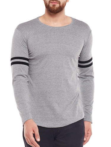 grey cotton t-shirt - 15411931 - Standard Image - 1