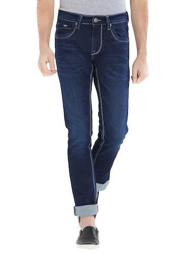 blue cotton washed jeans - 15412038 - Standard Image - 1