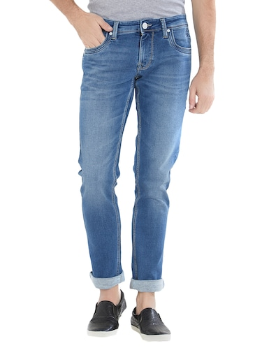 blue cotton washed jeans - 15412044 - Standard Image - 1