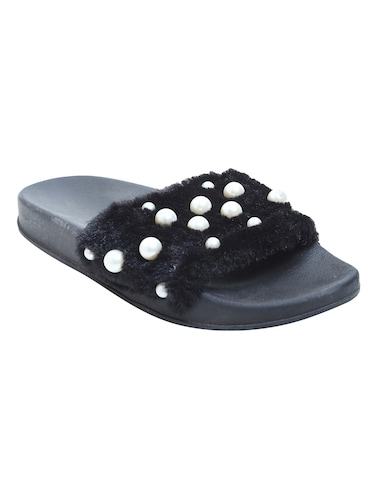black slip on flip flop - 15413021 - Standard Image - 1