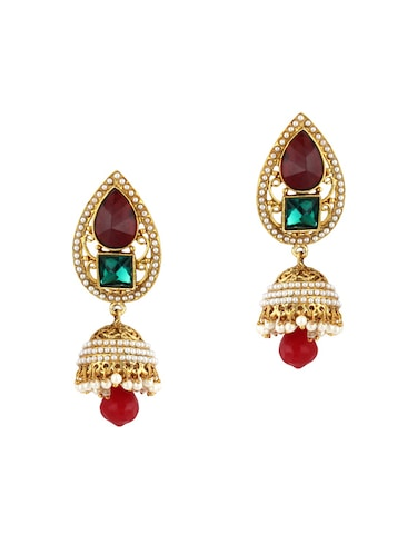 multi colored zinc jhumka - 15413228 - Standard Image - 1