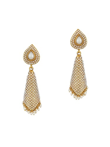 White Drop Earrings - 15413257 - Standard Image - 1