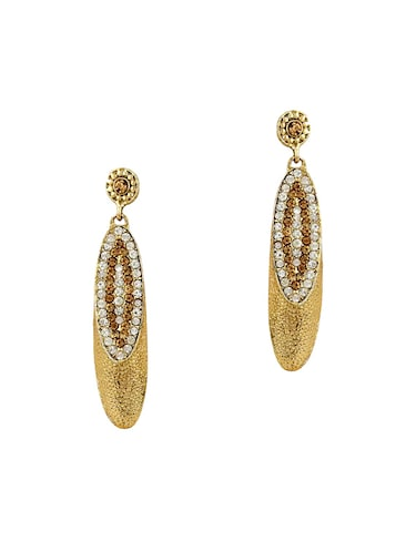 Gold Tone Stone Earrings - 15413291 - Standard Image - 1
