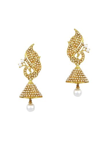 Gold Tone Pearl Inspired Earrings - 15413301 - Standard Image - 1
