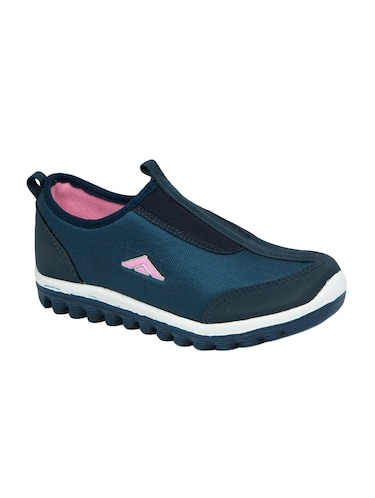 navy slip on sports shoes - 15413341 - Standard Image - 1