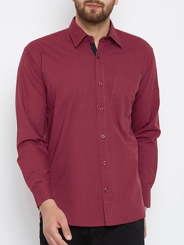 red cotton casual shirt - 15414010 - Standard Image - 1