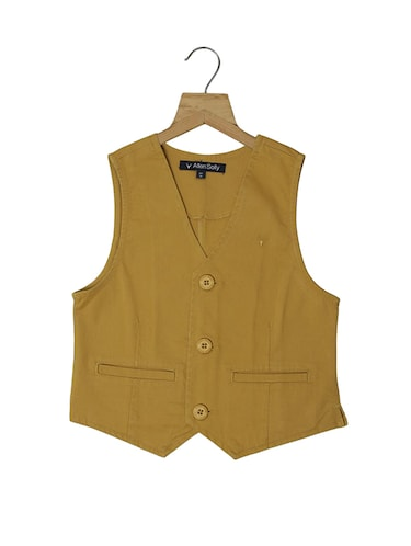 brown polyester waistcoat - 15414276 - Standard Image - 1