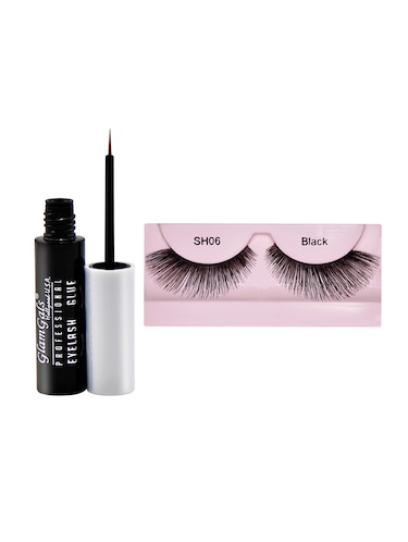 GlamGals Stylish Eye Lashes with Glue Transparent 6.5 ml - 15414423 - Standard Image - 1