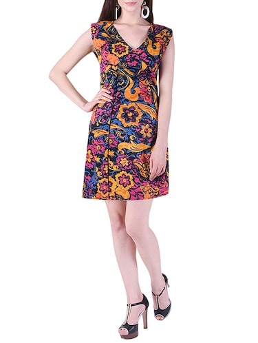 printed a-line dress - 15414982 - Standard Image - 1