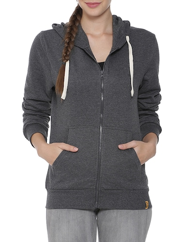 hooded zip up sweatshirt - 15416654 - Standard Image - 1