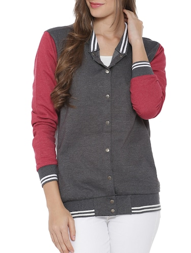 button down varsity jacket - 15416657 - Standard Image - 1