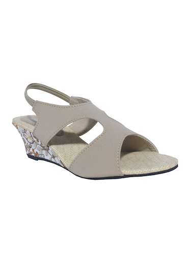 grey back strap wedges - 15416717 - Standard Image - 1