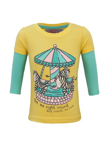 yellow cotton top - 15416865 - Standard Image - 1