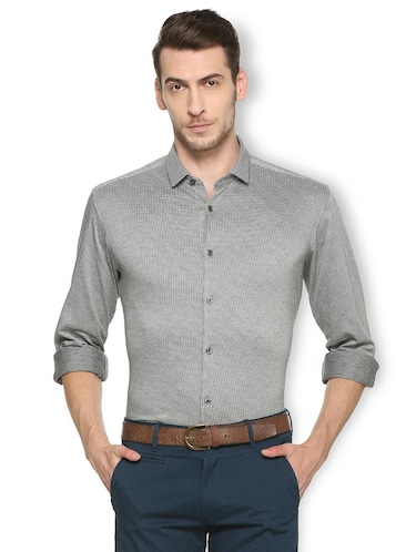 black cotton casual shirt - 15417090 - Standard Image - 1
