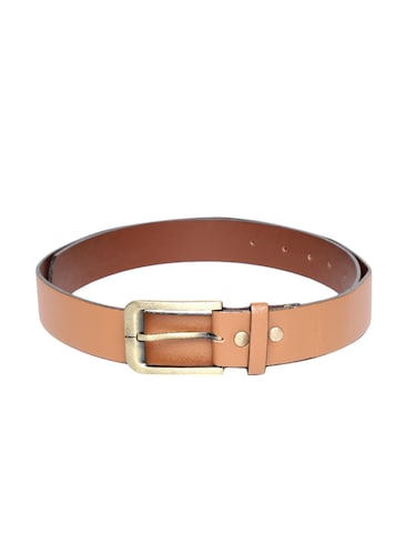 brown synthetic leather) belt - 15417961 - Standard Image - 1