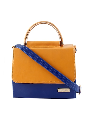 yellow leatherette (pu) regular sling bag - 15418174 - Standard Image - 1