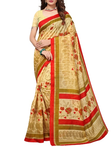 Floral bhagalpuri saree with blouse - 15420161 - Standard Image - 1