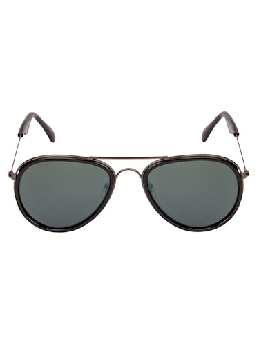 Arzonai Aviator Gunmetal-Green UV Protection Sunglasses [MA-314-S1 ] - 15420458 - Standard Image - 1