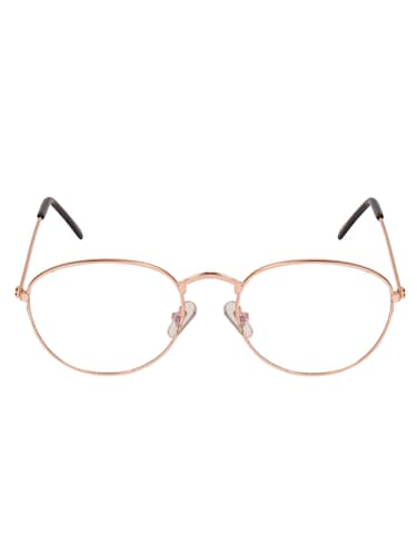 Arzonai Oval Golden-Transparent UV Protection Eyeglasses [MA-312-S2 ] - 15420519 - Standard Image - 1