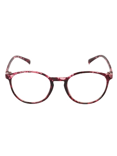 Arzonai Oval Maroon-Transparent UV Protection Eyeglasses [MA-400-S4 ] - 15420527 - Standard Image - 1