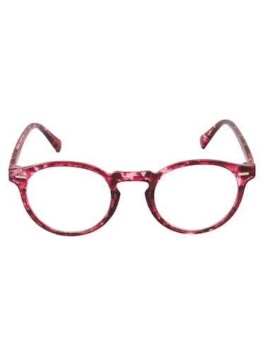 Arzonai Round Maroon-Transparent UV Protection Eyeglasses [MA-401-S4 ] - 15420530 - Standard Image - 1
