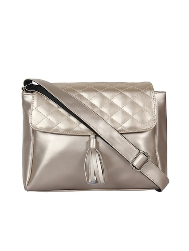 metallic leatherette (pu) regular sling bag - 15421012 - Standard Image - 1