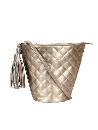 metallic leatherette (pu) regular sling bag - 15421022 - Standard Image - 1