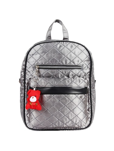 silver satin fashion backpack - 15421037 - Standard Image - 1