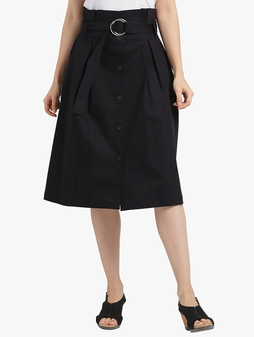 3ddc059c1e6b Buy Belted Button Down Box Pleat Skirt for Women from Leo Sansini ...