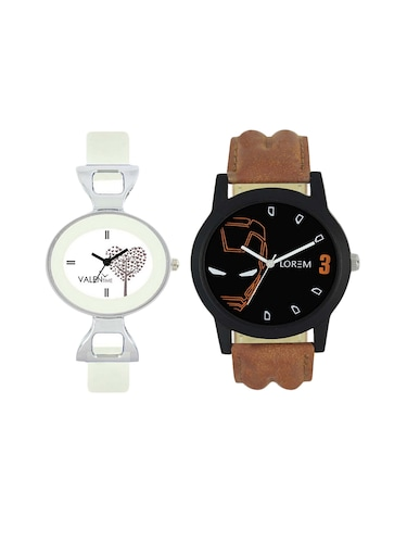 VALENTIME  LR4VT32  leather strap couple watch - 15422392 - Standard Image - 1