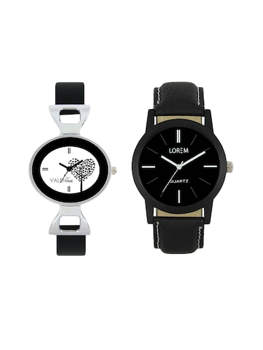 VALENTIME  LR5VT27  leather strap couple watch - 15422419 - Standard Image - 1