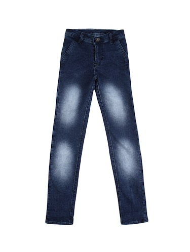 navy blue denim washed jeans - 15427006 - Standard Image - 1