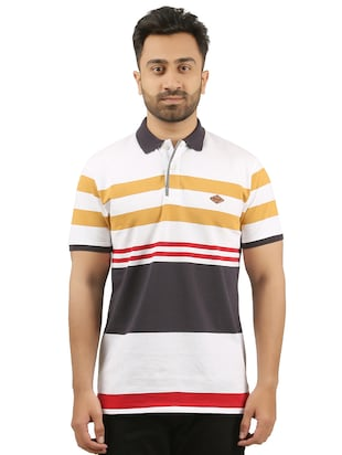 multi cotton blend polo  tshirt - 15427299 - Standard Image - 1