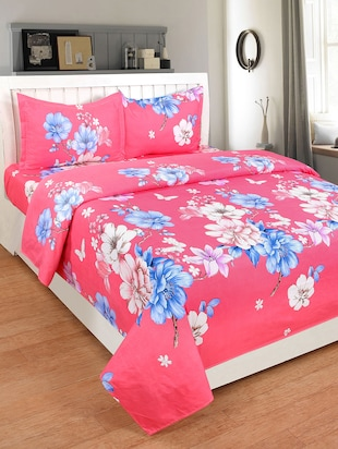 Cotton Double bedsheet with 2 pillow covers - 15427647 - Standard Image - 1