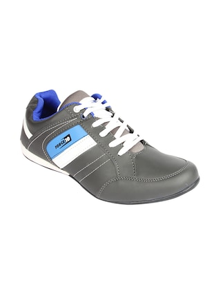grey leatherette sport shoes - 15428050 - Standard Image - 1