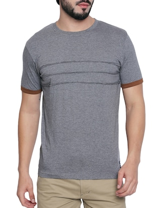 grey cotton t-shirt - 15429683 - Standard Image - 1