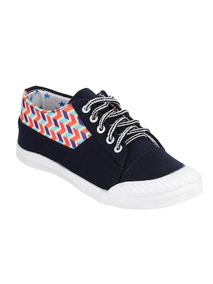 blue lace-up sneakers - 15430012 - Standard Image - 1