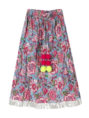 multi colored cotton  skirt - 15430195 - Standard Image - 1