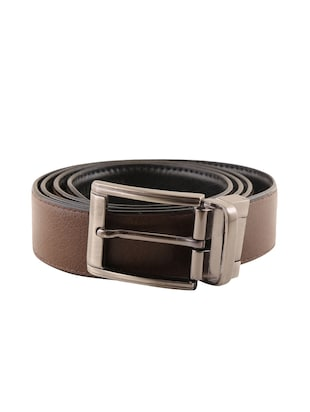 black & brown leatherette reversible  belt - 15432421 - Standard Image - 1