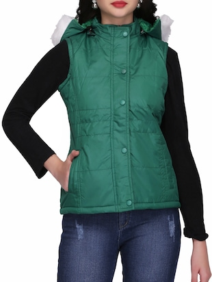 quilted & padded hooded jacket - 15432493 - Standard Image - 1