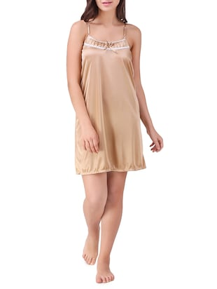 lace trim short nighty - 15434623 - Standard Image - 1