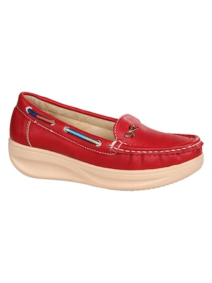 red slip on loafers - 15435162 - Standard Image - 1