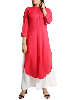 straight pintucks kurta - 15437912 - Standard Image - 1